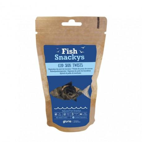 Fish Snackys Espirales de piel de Bacalao