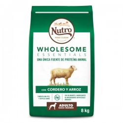 Nutro Wholesome essentials adulto razas grandes cordero 2x8kg