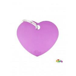 Corazón identificativo Morado Basic