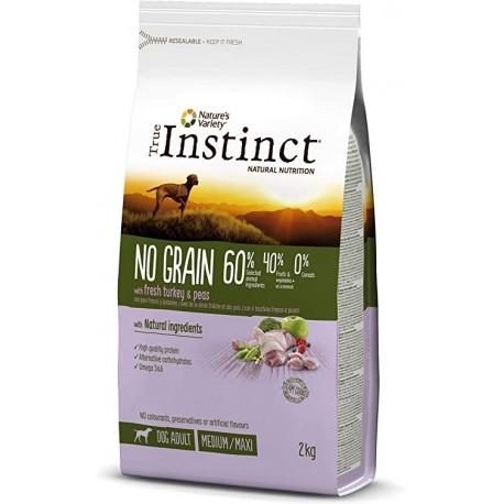 True Instinct No Grain Adult Medium-Maxi Pavo