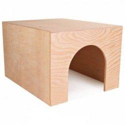 Casita de madera para conejos