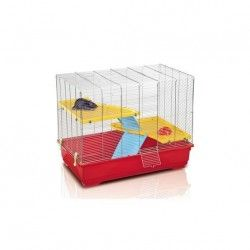 Jaula Roedor RAT 80 MID, 80x48.5x63cm, Crom./Rojo