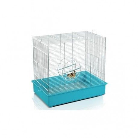 Jaula Roedor ARDILLAS, 61x40x56cm, Cromado/Azul