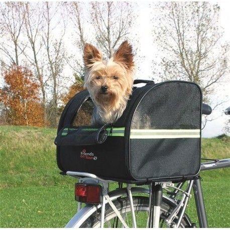 Transportín para mascotas en bicicleta