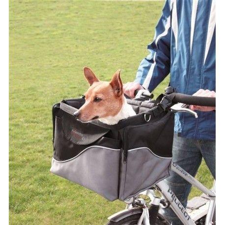 Transportín Frontal para mascotas en bicicleta