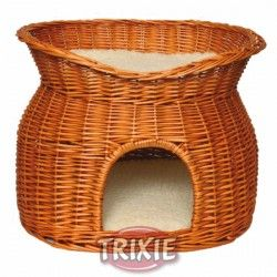 Cueva de Mimbre para gatos