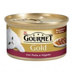 Gourmet Gold Bocaditos en Salsa Pollo e Hígado