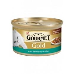 Gourmet Gold Bocaditos en Salsa con Salmón y Pollo