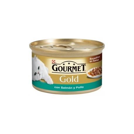 Gourmet Gold Bocaditos en Salsa Salmón/Pollo