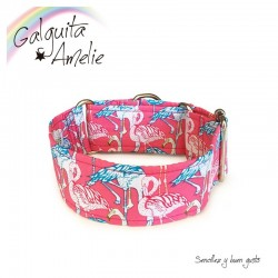 Collar Martingale Pink Flamingo