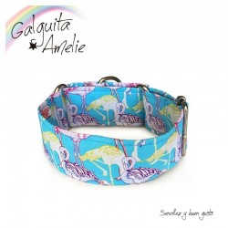 Collar Martingale Blue Flamingo