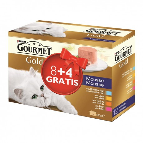 Gourmet Gold Mousse Multipack 8+4