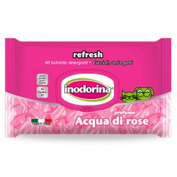 Inodorina Toallitas Refresh Agua de Rosas