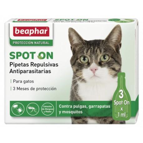 Pipetas repulsivas antiparasitarias para gatos